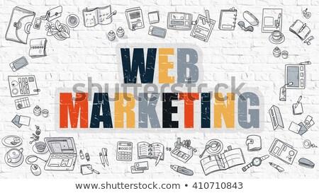 ウェブ マーケティング いたずら書き デザイン 白 ストックフォト © tashatuvango