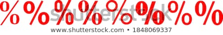 Stock photo: Red Percent sign