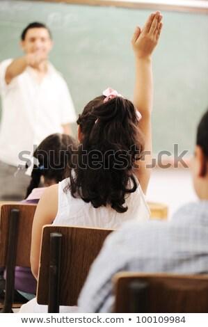 iskolás · gyerekek · középiskola · osztály · oktatás · diákok · csoport - stock fotó © zurijeta
