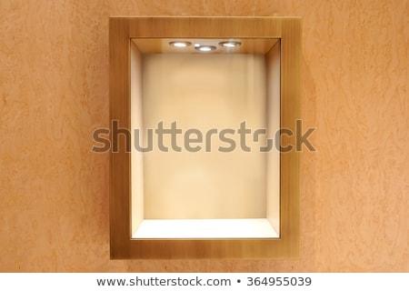 store wood showcase wooden background stock photo © romvo