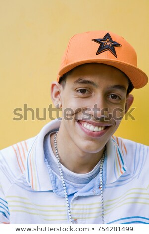 Mixed race Teenager with cap and chain Stock photo © IS2