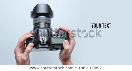 Dslr fotocamera bianco corpo tecnologia nero Foto d'archivio © jirkaejc