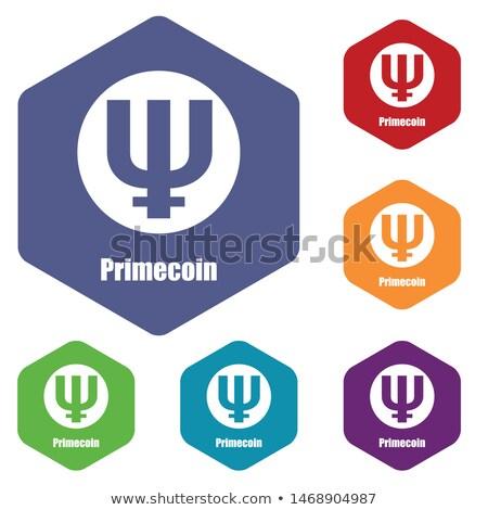 Primecoin - Cryptocurrency Colored Logo. Stock photo © tashatuvango