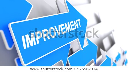 Performance Improvement - Message on Blue Pointer. 3D. Stock photo © tashatuvango