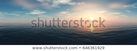 Red sea at sunset Stock photo © Givaga