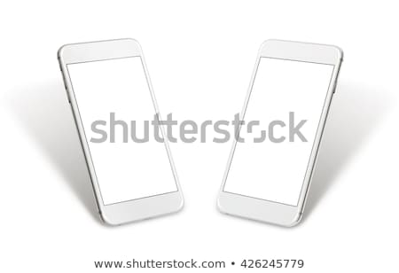 Isometric smartphone isolated on white background. Stock photo © RAStudio