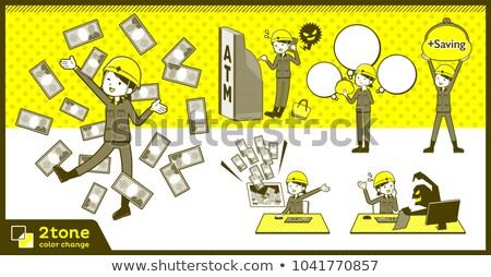 Type helm bouwvakker 12 gebouw vrouwen Stockfoto © toyotoyo
