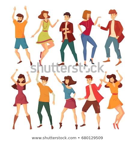 Jaqueta curto calças música conjunto homens Foto stock © toyotoyo