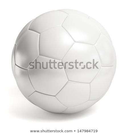 Futballabda fehér izolált 3d illusztráció futball mező Stock fotó © ISerg