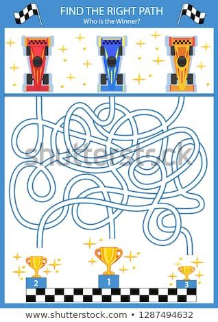Cartoon istruzione labirinto labirinto gioco bambini Foto d'archivio © Natali_Brill