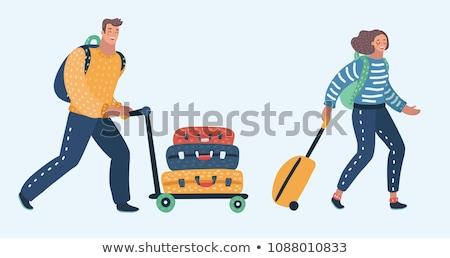 Smiling Male with Luggage Vector Illustration Stock photo © robuart