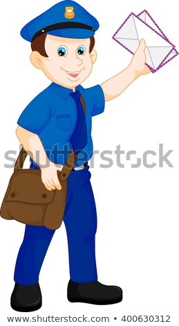 Cartoon Smiling Mail Carrier Man Stock photo © cthoman