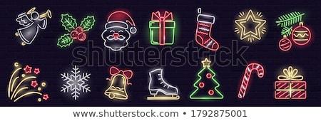 christmas · neon · zimą · wakacje · promocji · świetle - zdjęcia stock © Anna_leni
