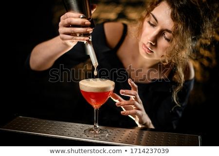 Barmen kokteyl mutlu genç erkek Stok fotoğraf © Kzenon