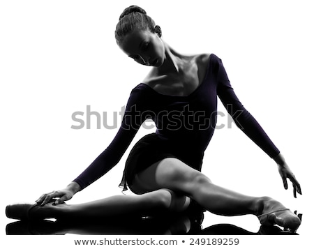 Woman Dancer Stretching Silhouette Stock photo © Krisdog