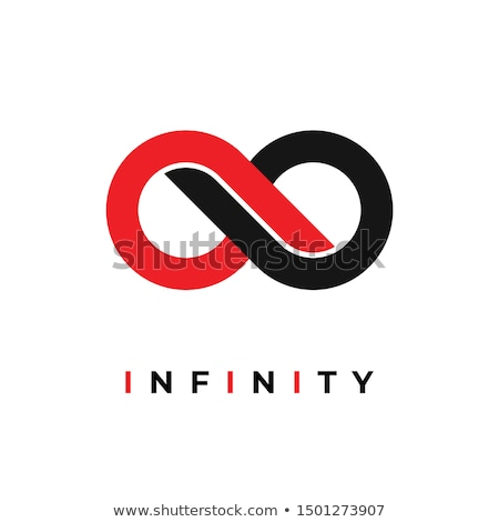red black circle infinity symbol vector Stock photo © blaskorizov