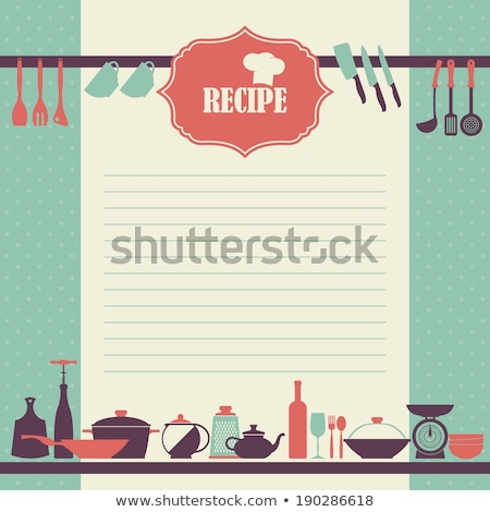 Recipe Cook Book Page Notebook Vector Illustration Stock photo © robuart