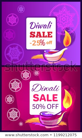 diwali sale  50  25 off sign vector illustration stock photo © robuart