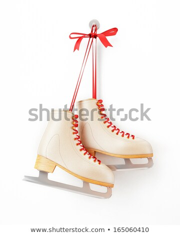 Happy Holidays Postcard, Children on Skating Rink Stock photo © robuart