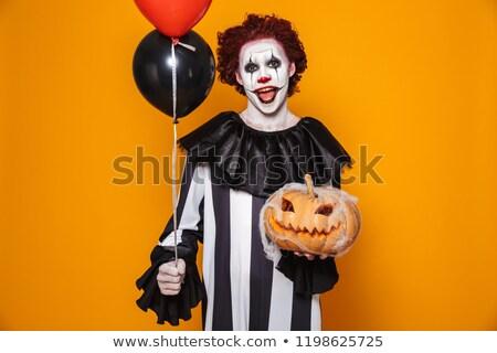 Clown szczęśliwy człowiek czarny kostium Zdjęcia stock © deandrobot