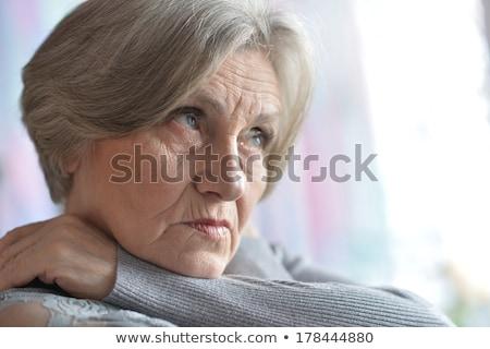 Nice portret starszy kobieta studio medycznych Zdjęcia stock © Lopolo
