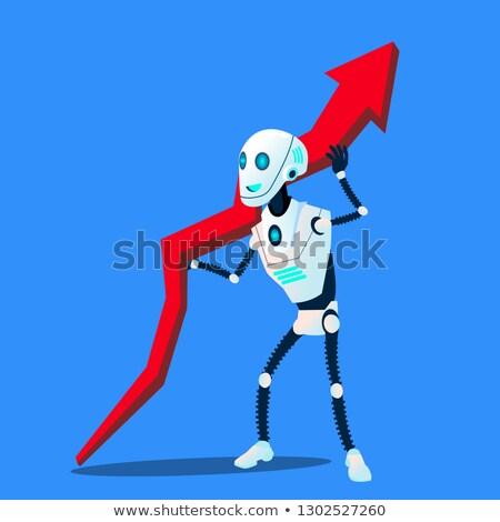 робота вверх бизнеса тенденция диаграммы вектора Сток-фото © pikepicture