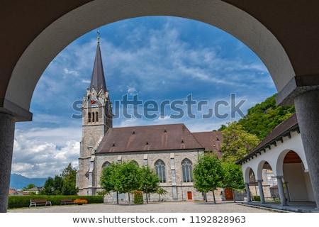 Cattedrale Liechtenstein santo architettura gothic torre Foto d'archivio © boggy