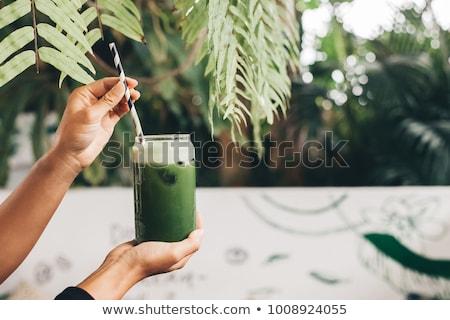 verde · cetriolo · legno · ciotola · taglio - foto d'archivio © bdspn