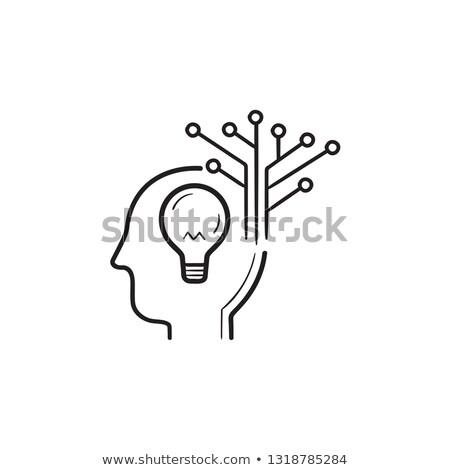 創造 · 人工知能 · 手描き · いたずら書き · アイコン - ストックフォト © RAStudio