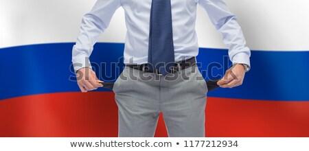 Zakenman lege vlag Rusland business faillissement Stockfoto © dolgachov