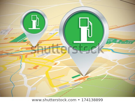 GPS navigation service vector concept. 3D road map with arrow. g Stock photo © kyryloff