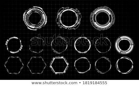 fekete · koncentrikus · alkotóelem · szett · illusztráció · absztrakt - stock fotó © Blue_daemon