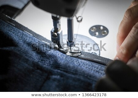 Fastening sewing machine close-up. Modern textile industry. Stock photo © cookelma