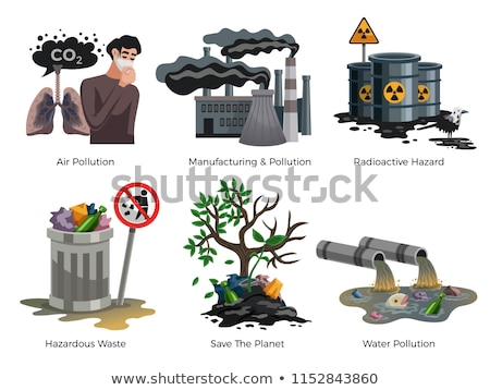 Air and Water Pollution, Environmental Problem Stock photo © robuart