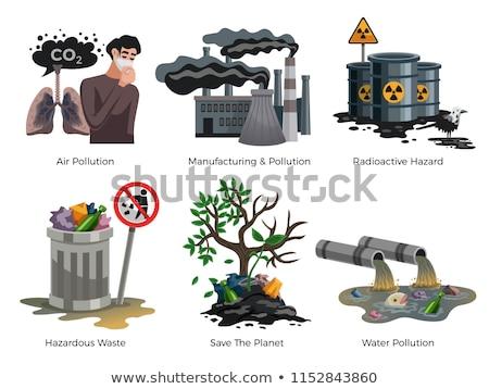 Powietrza wody zanieczyszczenia środowiskowy problem gazu Zdjęcia stock © robuart