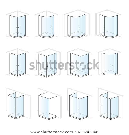 ducha · bano · instalación · montaje · soluciones · pictograma - foto stock © ukasz_hampel