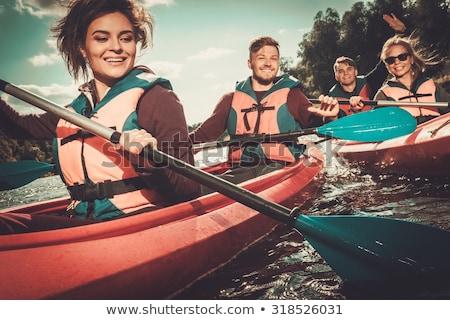 Rafting verano agua deportes personas equipo Foto stock © robuart