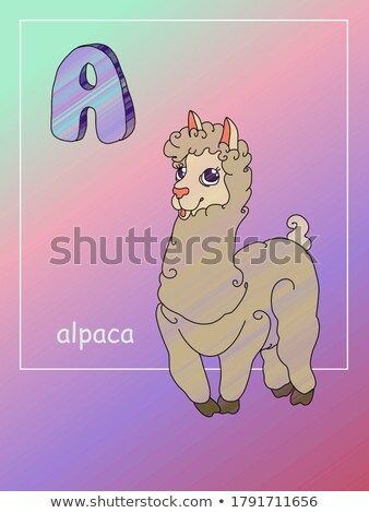 Set of alpaca character Stock photo © colematt