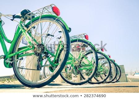 modern · bisiklet · kentsel · park · araba · imzalamak - stok fotoğraf © jossdiim