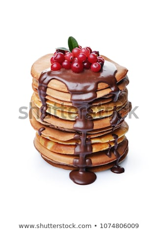 Delicious pancakes with chocolate drops stock photo © Melnyk