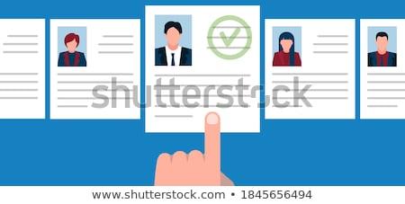 работу · агентство · занятость · человека · ресурсы · рук - Сток-фото © rastudio