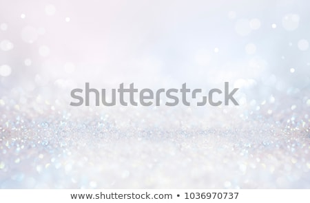 Stock photo: beautiful blue magical stars and bokeh lights background