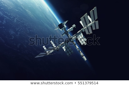 International Space Station over the planet Earth. Stock photo © NASA_images