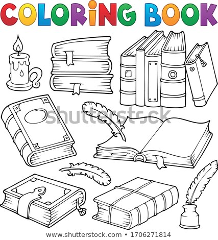 Coloring book with literature theme 1 Stock photo © clairev