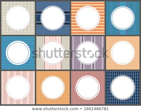 Stock photo: Set of Poster Round Frame, Spare Place For Text