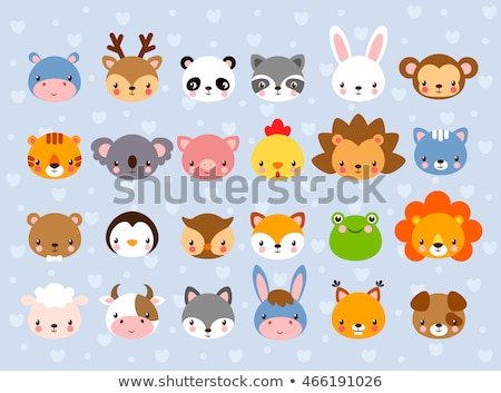 Tierwelt Maskottchen Karikatur Set Sammlung Stock foto © patrimonio