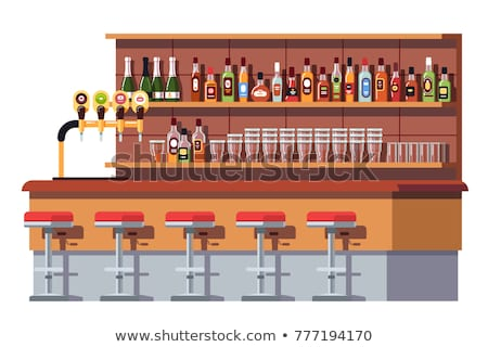 Bar or Pub with Empty Stools and Tables Vector Stock photo © robuart