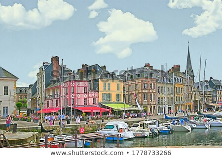 Embankment in Honfleur, France Stock photo © borisb17