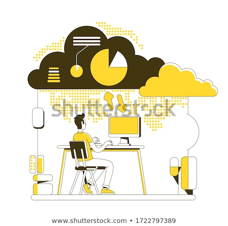 cloud computing service web hosting vector concept metaphor stock photo © rastudio