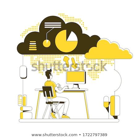 Usługi internetowych hosting wektora metafora Zdjęcia stock © RAStudio